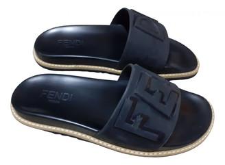 Fendi Black Plastic Sandals