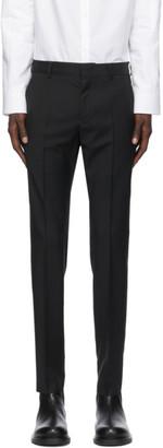 Valentino Black Wool Plain Trousers