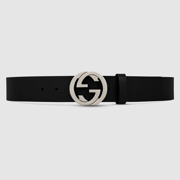 Gucci Leather belt with interlocking G