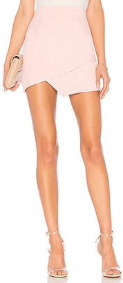 superdown Saira Faux Suede Mini Skirt
