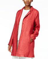 Eileen Fisher Organic Linen Two-Button Blazer