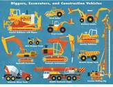 Oopsy Daisy Fine Art For Kids Diggers, Excavators and Construction Vehicles by Daviz Canvas Art