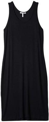 Three Dots Rib Tank Dress (Black) Women's Dress