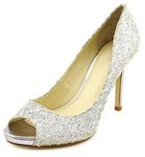 Enzo Angiolini Maiven Women Peep-toe Canvas Heels.