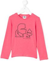 Karl Lagerfeld printed long-sleeved sweatshirt - kids - Cotton/Spandex/Elastane - 2 yrs