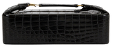 Vintage Black Crocodile Leather Beauty Case