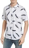 7 Diamonds Men's New York Soul Print Woven Shirt