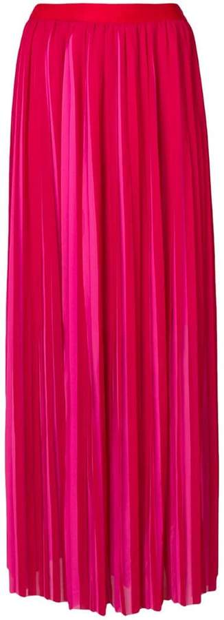 2ae5ea63c1 High Waist Long Pleated Maxi Skirt - ShopStyle