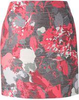 Antonio Berardi floral jacquard mini skirt
