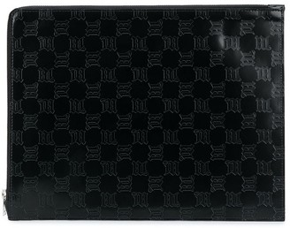 Misbhv Embossed Logo Leather Clutch