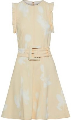 Proenza Schouler Belted Printed Stretch-crepe Dress