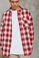 Forever 21 FOREVER 21+ Slim-Fit Flannel Longline Shirt