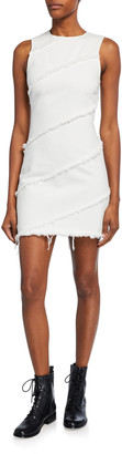 Alexander Wang Diagonal Seamed Sleeveless Sheath Dress