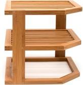 Lipper Bamboo Three-Tier Corner Shelf