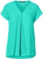Ralph Lauren Georgette Short-Sleeve Top