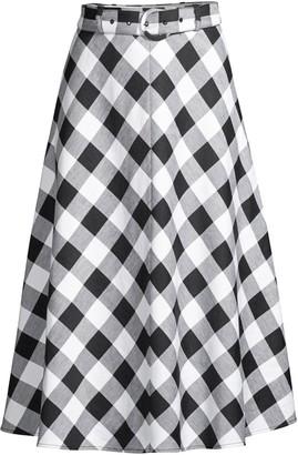 Kate Spade Gingham Midi Skirt