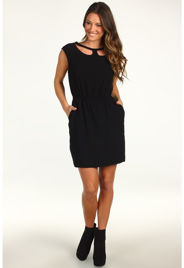 BCBGeneration Collar Cutout Dress (Black) - Apparel