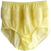 NYLON PANTIES PJYW Sissy YELLOW Knickers Panties Underwear Women Briefs Soft Nylon Floral Lace Lingerie