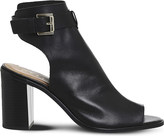 Office Adele cutout leather ankle boots
