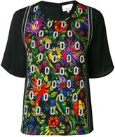 3.1 Phillip Lim floral embroidered crepe blouse - women - Silk/Elastodiene/Viscose - 4
