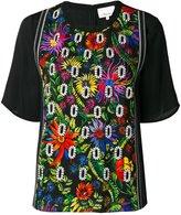 3.1 Phillip Lim floral embroidered crepe blouse - women - Silk/Elastodiene/Viscose - 6