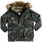 Molo Hooded Camo Print Nylon Ski Jacket