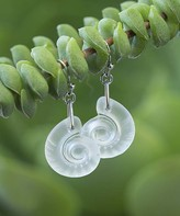 Boho Treasures By Wise Creations Boho Treasures by Wise Creations Women's Earrings White, - White Seashell Glass Drop Earrings