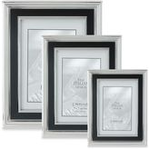 Lawrence Frames Silver-Plated Picture Frame with Satin Black Inner Panel