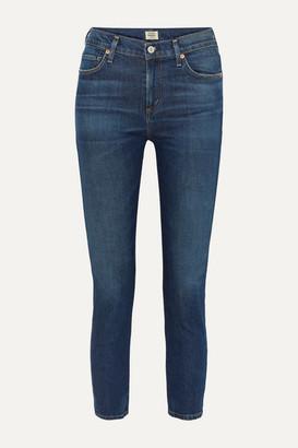 Citizens of Humanity Harlow Mid-rise Straight-leg Jeans - Dark denim