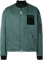 Raf Simons logo patch padded bomber jacket