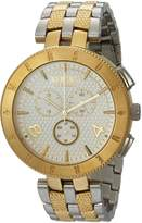 Versus By Versace Men's 'LOGO GENT CHRONO' Quartz Stainless Steel Casual Watch, Color:Two Tone (Model: S76150017)