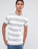 Celio Crew Neck Pocket T-shirt With Marl Stripe