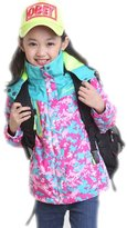 Lanbaosi Girl's Pink Lightweight Jacket Windbreaker Outdoor Active Coat Sportswear