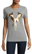 True Religion Drippy Horseshoe Short-Sleeve Cotton Tee