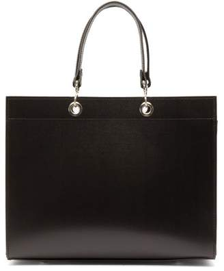 Comme des Garcons Large Recycled-leather Handbag - Womens - Black