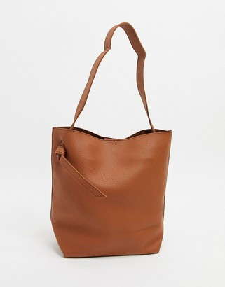 French Connection mottled leather tote bag