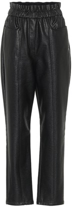 Philosophy di Lorenzo Serafini High-rise faux leather pants