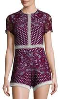 Alexis Rowen Embroidered Lace Romper