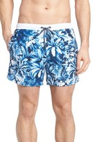 BOSS Men's Mandarinfish Floral Swim Trunks