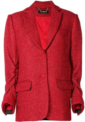 Styland Gathered Sleeve Blazer