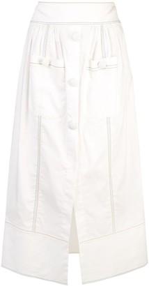 Rosie Assoulin Front Slit Skirt
