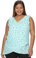 Apt. 9 Plus Size Faux-Wrap Top