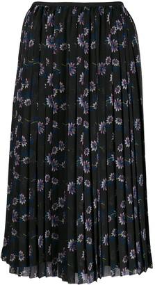 Kenzo Floral Midi Pleated Skirt