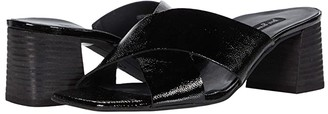 Paul Green Cici Sandal (Black Crinkled Patent) Women's Shoes