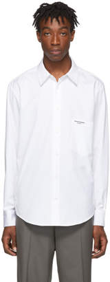 Wooyoungmi White Pocket Logo Shirt