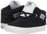 Vans Kids Half Cab Black/Blanc) Boys Shoes