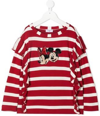 MonnaLisa Disney longsleeve striped top