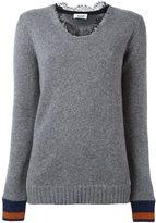 Aviu lace collar jumper - women - Polyamide/Polyester/Spandex/Elastane/Cashmere - 40