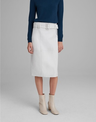Club Monaco Faux-Leather Belted Skirt