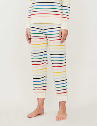Chinti and Parker Striped cashmere pyjama bottoms